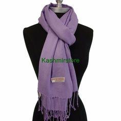 2Ply Elegant Pashmina/Cashmere Scarf/Wrap/Shawl Super Soft #Rv16 Lavender