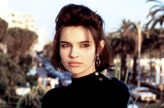 Beatrice Dalle photographed by Jean-Claude Deutsch at the 1986 Cannes Film Festival