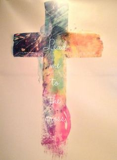 ~ Cross in watercolor