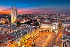 Zagreb got its fire up as two medieval fortress towns' top hills overlooking the Sava River. The place was reborn in the Baroque period as centre of business... #Zagreb #ZagrebCity  #Restaurant #Holiday #Voyage #Hotels #Shopping
