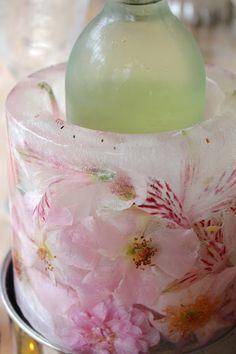 #DIY floral ice bucket