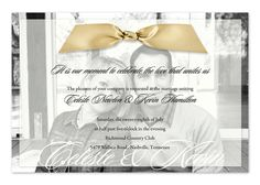 Forever Photo Sheer - Wedding Invitations by Invitation Consultants. (Item # IC-RLP-SH-39 )I love the sheer vellum overlay over the pic of the bride and groom. The ribbon is an extra added attraction.