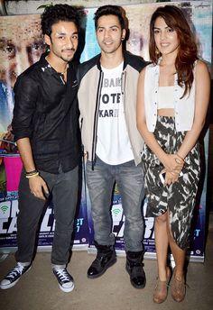 Varun Dhawan with Raghav Juyal and Rhea Chakraborty at the screening of 'Sonali Cable'. #Bollywood #Fashion #Style #Beauty