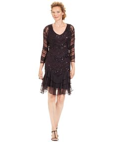 Patra Dress and Jacket, Sleeveless Beaded Sequin Ruffle - Mother of the Bride Dresses - Women - Macy's
