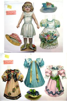 """Paper dolls for sale--some antique--some new--D--Sugg Antique:1905-07 Jumbo """"Our Favorite Dolls"""""""