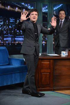 Josh Hutcherson - Josh Hutcherson Visits 'Late Night with Jimmy Fallon'