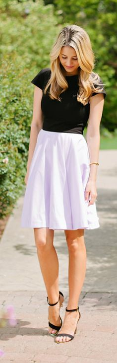 Lilac Skirt Classic Style by Ivory Lane Simple. Classy. Genius!