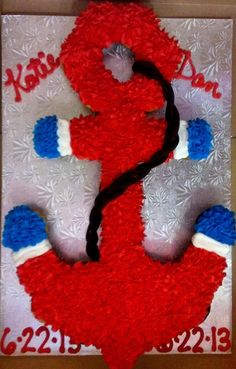Anchor Cupcake Cake for brads going away party?