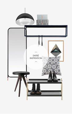 Få inspiration til entre indretning Hemnes, Ikea Pax, Cool Ideas, Farrow Ball, Mudroom, Office Desk, Interior, House, Furniture