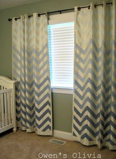 Painted and Stenciled Curtains