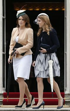 Princess Eugenie also wore a new hat- the Lily Beret designed by Robyn Coles. I'm not entirely sold on a hat which places a giant calla lily smack on top of one's head but I suppose if there's ever an occasion to wear this hat, it's to a garden party. It's currently for sale on Boticca in case you have a garden party on your calendar this summer want to pick up.