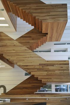 Cantileverd Staircase wood board scale x bottom of stair mimicking the stair tread