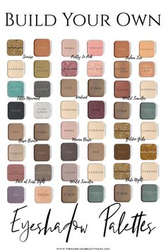 Custom Eyeshadow Palettes - Is there that one eyeshadow color in your palette that runs out faster than the rest? Custom Eyeshadow Palette, Drugstore Eyeshadow Palette, Natural Eyeshadow Palette, Eyeshadow For Blue Eyes, Makeup For Brown Eyes, Colorful Eyeshadow, Eyeshadow Looks, Makeup Palette, Eyeshadow Makeup