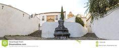 Slope of Bailio Street, old downtown of Cordoba, Spain