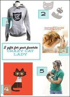 Gift Guide- Crazy Cat Ladies {via linzlovesyou.com}