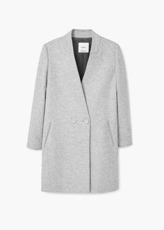 Unstructured wool-blend coat | MANGO