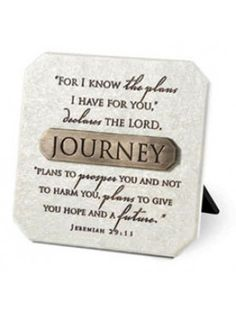 Plaque With Bronze Title Bar-Resin-Journey-3.75In X 3.75In-Jeremiah 29:11