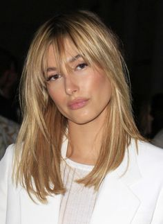 Bangs blonde hairstyle