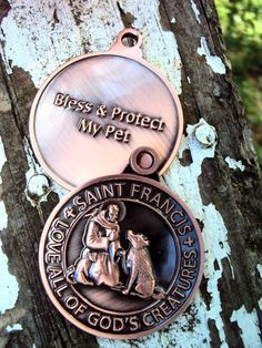 St. Francis Dog Tag Pet ID Tag Charm for Large by bshineandboots, $4.99