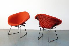 Harry Bertoia for Knoll Diamond chairs, pair c. 1950