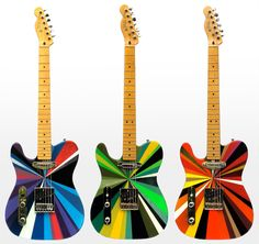 Psychedelic Fender telecaster From ifitshipitshere