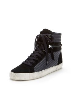 STYLISH SPORTY - Lodlow Combo High-Top Sneaker by (French Connection)