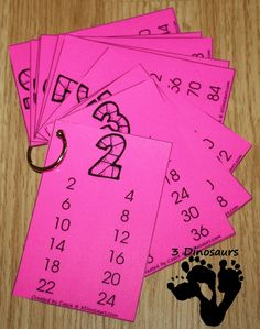 Free Skip Counting Cards - use these for multiples