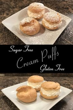 Perfect Cream Puffs, Gluten Free and Sugar Free – Day 6 - Gluten Free Sweet Recipes - Cream Recipes Diabetic Desserts, Sugar Free Desserts, Sugar Free Recipes, Gluten Free Desserts, Diabetic Recipes, Gluten Free Recipes, Sweet Recipes, Dessert Recipes, Keto Recipes