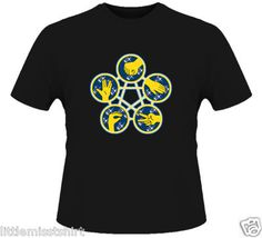 Rock Paper Scissors Geek Spock Star Trek Black T Shirt