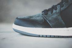 Image of Air Jordan 1 Mid Black/Charcoal Suede