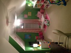 Playroom and home office - approximately same amount of space we have