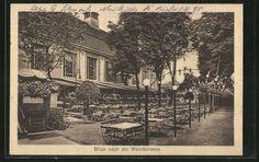 """Alte Ansichtskarte: AK Berlin-Neukölln, Blick nach der Weinstraße, Gasthaus """"Orpheum"""" Hasenheide 32/38, gelaufen 1925"""