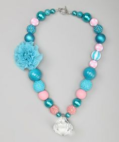 Take a look at this Aqua Mermaid Necklace by My Sunshine Shoppe on #zulily today!
