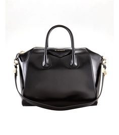 Who What Wear - Givenchy Antigona Shiny Lord Bag ($2125) in Black