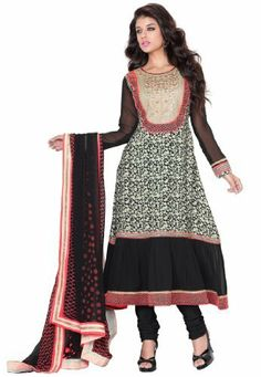 4898da1227 Fabdeal Indian Wear Black Embroidery Salwar Suit Dress Material: Amazon.co. uk: Clothing