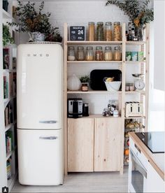 Beautiful containers and clutter free kitchen.