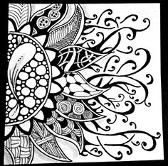 Drawing Doodle Art in Progress: Weekly Zentangle Challenge Tangle Doodle, Tangle Art, Zen Doodle, Doodle Art, Zentangle Drawings, Doodles Zentangles, Doodle Drawings, Doodle Designs, Doodle Patterns