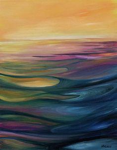 Lake Sunset - Art Print - 12.5\ x 16\ / Watercolor Paper