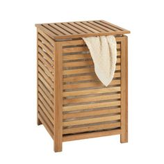 House of Hampton Keep bedrooms and bathrooms spick and span with this spa-worthy laundry basket, showcasing a classic slatted wooden design with linen lining. Wooden Laundry Basket, Laundry Box, Laundry Hamper, Wooden Bathroom Accessories, Contemporary Bathroom Accessories, Under Sink Storage Unit, Washing Basket, Bathroom Trends, Into The Woods