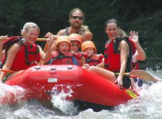 Rafting on the lower Pigeon River is one of the best Attractions in Gatlinburg TN for little kids. It's a 5 1/2 mile trip through the scenic Pigeon River gorge. This adventure begins at the outpost and ends at the Denton Bridge. So if you're looking for something with a little less speed, this rafting trip on the Pigeon River is for you. Trips Go Rain or Shine!