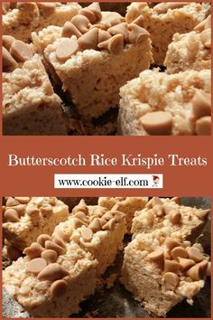 Rice Krispie Treats - an easy variation of the classic recipe. Jus Butterscotch Rice Krispie Treats -- an easy variation of the classic recipe. Butterscotch Rice Krispie Treats -- an easy variation of the classic recipe. Rice Krispie Treats Variations, Rice Krispy Treats Recipe, Rice Crispy Treats, Recipe Treats, Cookie Recipes, Dessert Recipes, Popcorn Recipes, Candy Recipes, Easy Desserts