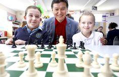 World chess king Kirsan checks in June 4th, Chess, Dublin, King, World, Gingham, The World