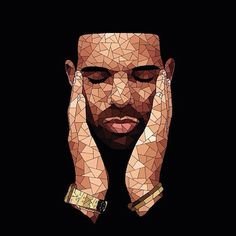 A French Artist Created This Diamond-Like Art of Drake Over A Year ...