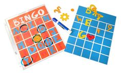 VIDEO: Bingo Dry Erase Boards - you can customize these boards and use them every year!