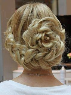 braided hairstyles - braided updo hairstyle