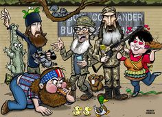 duck dynasty | This is a group caricature of the cast of Duck Dynasty. That's Jase ...