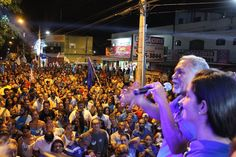 Antônio Lima, candidato a prefeito pelo Democratas, faz último comício em Cidade Ocidental