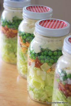 Seven Layered Salad in a Jar