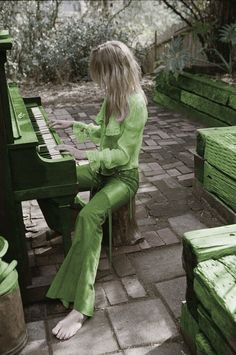Green - photograph by Jason Lee Parry - starring Louise Mikkelson - styled by Chloe Chippendale