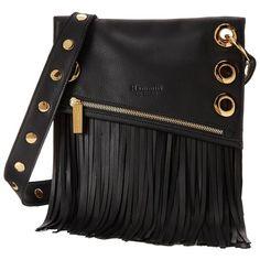 Hammitt Roxbury Fringe Black Gold Cross Body Handbags 585 Liked